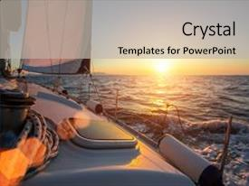 Powerpoint template a ship sailing in the sea with sunset in bcrystalb powerpoint template with sailing ship luxury yacht boat toneelgroepblik Images