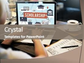 Scholarship powerpoint templates crystalgraphics crystal powerpoint template with scholarship aid college education loan themed background and a gray colored foreground toneelgroepblik Image collections