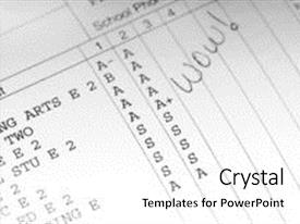 Report card powerpoint templates crystalgraphics crystal powerpoint template with school report card showing straight themed background and a white colored foreground toneelgroepblik Choice Image