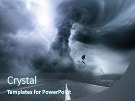 tornado powerpoint templates | crystalgraphics, Modern powerpoint