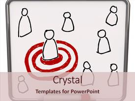 PPT theme having several people and one target background and a lemonade colored foreground.