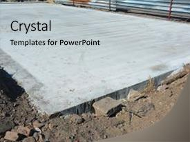 <b>Crystal</b> PowerPoint template with slab-on-grade foundation monolithic themed background and a light gray colored foreground design featuring a [design description].