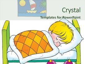 Audience pleasing slides consisting of sleeping baby - isolated clip-art children s book backdrop and a soft green colored foreground.