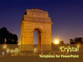 Indian army powerpoint templates crystalgraphics crystal powerpoint template with soldiers of the british indian themed background and a tawny brown colored toneelgroepblik Images