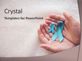 ovarian cancer powerpoint templates | crystalgraphics, Modern powerpoint