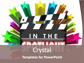 Employee recognition stars powerpoint templates crystalgraphics crystal powerpoint template with employee recognition stars special person with an award themed background and toneelgroepblik Gallery