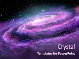 Spiral powerpoint templates crystalgraphics crystal powerpoint template with spiral galaxy in deep spcae themed background and a violet colored foreground toneelgroepblik Choice Image