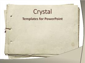 powerpoint template: old brown paper with slightly burnt edges (22455), Powerpoint templates