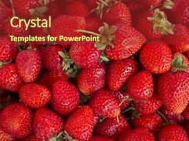 powerpoint template: digital representation of strawberry creating, Presentation templates