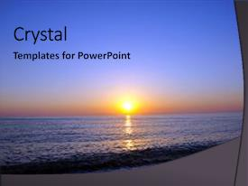 PPT theme with sunset beautiful sunset black sea background and a light blue colored foreground.