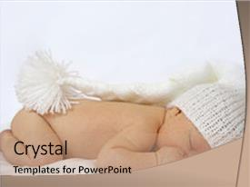 Cool new PPT layouts with sweet baby sleeping backdrop and a coral colored foreground.