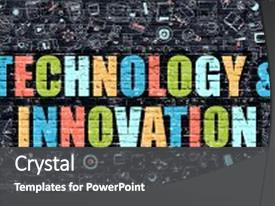 Innovation powerpoint templates crystalgraphics ppt theme consisting of technology and concept technology background and a dark gray toneelgroepblik Gallery