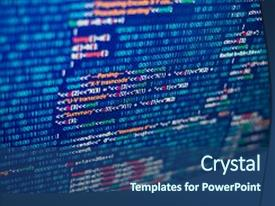 Java programming powerpoint templates crystalgraphics presentation enhanced with technology programming abstract source code theme and a ocean colored foreground toneelgroepblik Gallery