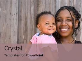 Single mother powerpoint templates crystalgraphics presentation having teenage african american mother holding backdrop and a coral colored foreground toneelgroepblik Choice Image