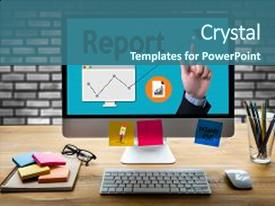 School report powerpoint templates crystalgraphics crystal powerpoint template with school report text on paper sheet business themed background and a toneelgroepblik Choice Image