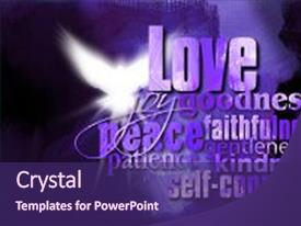 Cool new PPT theme with bitmap - spirit digital art backdrop and a violet colored foreground.