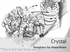 <b>Crystal</b> PowerPoint template with they won t post job themed background and a light gray colored foreground design featuring a [design description].