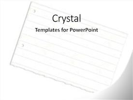 Lined paper powerpoint templates crystalgraphics theme with torn with holes background and a white colored foreground toneelgroepblik Images