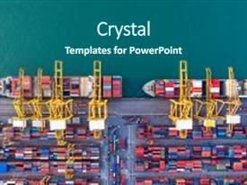Logistics powerpoint templates crystalgraphics ppt theme with trade transportation container ship background and a ocean colored foreground toneelgroepblik Gallery