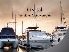 100 powerpoint templates crystalgraphics slide set having water transportation yacht and boats backdrop and a coral colored foreground toneelgroepblik Images