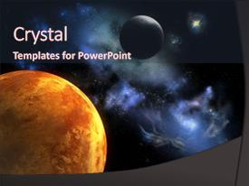 Outer space powerpoint templates crystalgraphics audience pleasing ppt layouts consisting of two planets from outer space backdrop and a wine colored toneelgroepblik Images