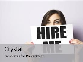 Unemployment powerpoint templates crystalgraphics slides with girl looking for a background and a light gray colored foreground toneelgroepblik Image collections