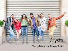 Multicultural education powerpoint templates crystalgraphics presentation enhanced with human acts unique multiracial people theme and a light gray colored toneelgroepblik Images