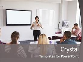 Lecture powerpoint templates crystalgraphics presentation enhanced with university students attending lecture background and a gray colored foreground toneelgroepblik Image collections