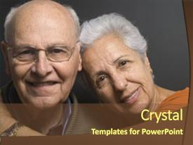 Senior citizen powerpoint templates crystalgraphics crystal powerpoint template with up of a lovely senior themed background and a tawny brown colored toneelgroepblik Image collections