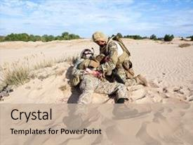Army medicine powerpoint templates crystalgraphics crystal powerpoint template with us army special forces soldier themed background and a mint green colored toneelgroepblik Image collections