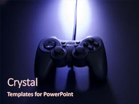 Video game powerpoint templates crystalgraphics crystal powerpoint template with video game joystick with dramitic themed background and a wine colored foreground toneelgroepblik Choice Image