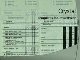 Report card powerpoint templates crystalgraphics crystal powerpoint template with vintage elementary school report card themed background and a light gray colored toneelgroepblik Choice Image