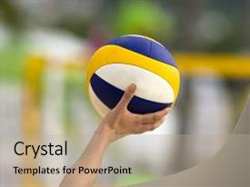 Volleyball powerpoint templates crystalgraphics beautiful slides featuring volleyball is a volleyball being backdrop and a mint green colored foreground toneelgroepblik Choice Image