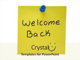 welcome back powerpoint templates | crystalgraphics, Powerpoint templates