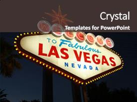 Powerpoint template beautiful night view of las vegas strip with ppt layouts with welcome to las vegas neon background and a dark gray colored foreground custom template pronofoot35fo Choice Image