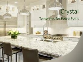 Steel powerpoint templates crystalgraphics presentation having steel white kitchen design features large backdrop and a soft green colored foreground toneelgroepblik Gallery