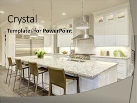 Design powerpoint templates crystalgraphics crystal powerpoint template with white kitchen design features large themed background and a mint green colored toneelgroepblik Gallery