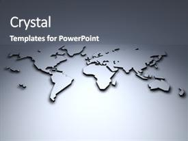 I love this slide set featuring world map 3d image and a gray colored foreground.
