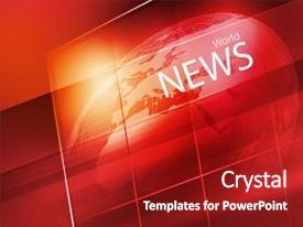 tv news globe powerpoint templates   crystalgraphics, Modern powerpoint