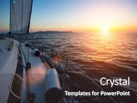 Powerpoint template a ship sailing in the sea with sunset in bcrystalb powerpoint template with yacht sailing against sunset luxury toneelgroepblik Images