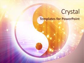 Powerpoint template a beautiful depiction of a ying yang symbol bcrystalb powerpoint template with yin yang sign with some toneelgroepblik Gallery
