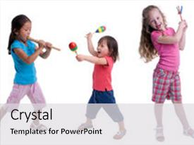 Cool new PPT theme with young girl growing up childhood backdrop and a light gray colored foreground.