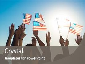 American idol powerpoint templates crystalgraphics audience pleasing slide set enhanced with young people waving american flags theme and a gray colored toneelgroepblik Image collections