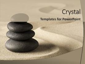 Zen powerpoint templates crystalgraphics amazing ppt theme having zen meditation stone and sand backdrop and a mint green colored foreground toneelgroepblik Gallery